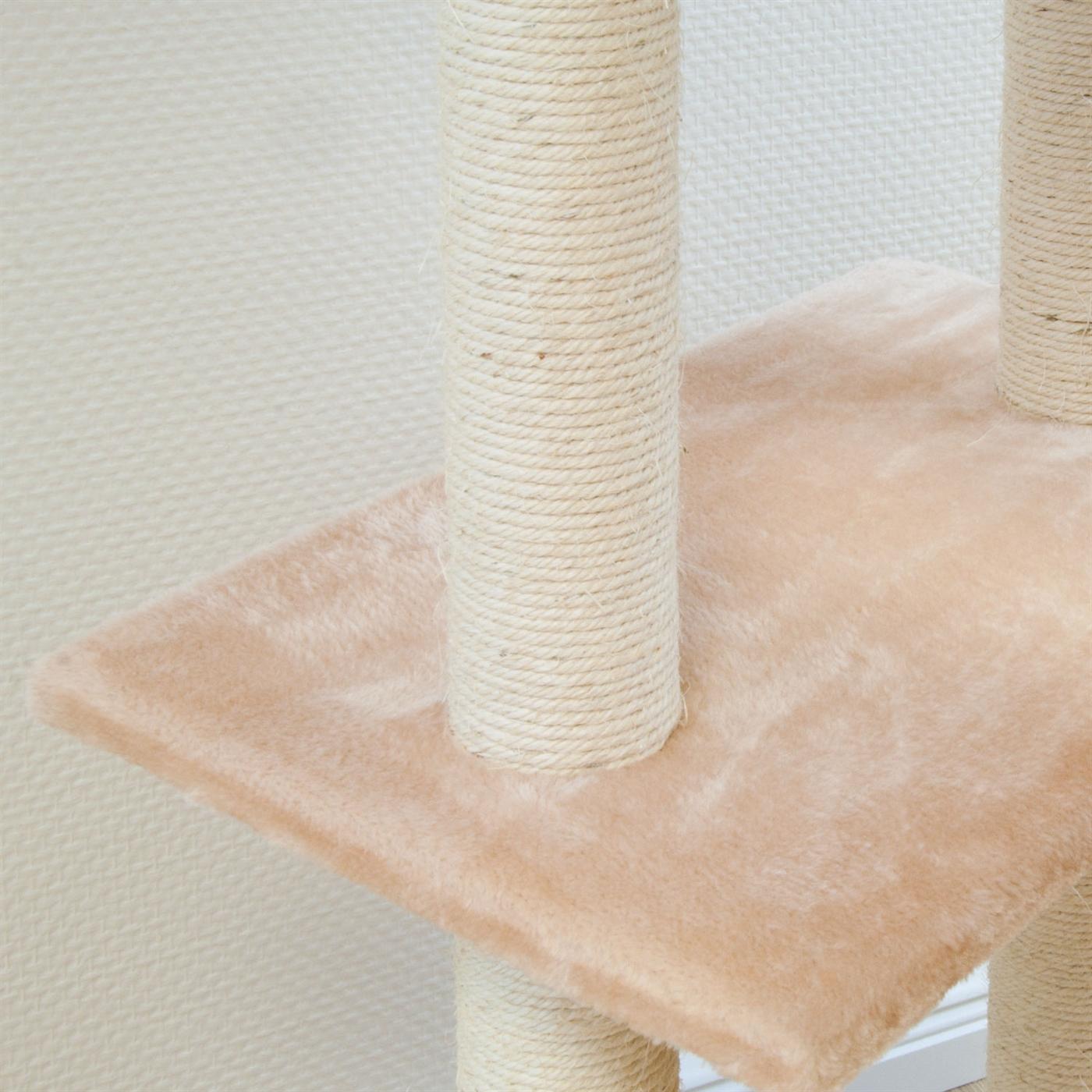 186 cm beige Kratzbaum Baum Katzen Kletterbaum Katzenbaum Katzenkratzbaum 7