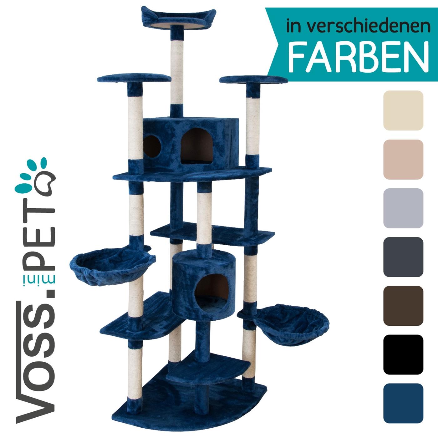 happypet cat002 2 blau kratzbaum katzenbaum mittelhoch 1 82 hoch 8 cm natursisalst mme bunte. Black Bedroom Furniture Sets. Home Design Ideas