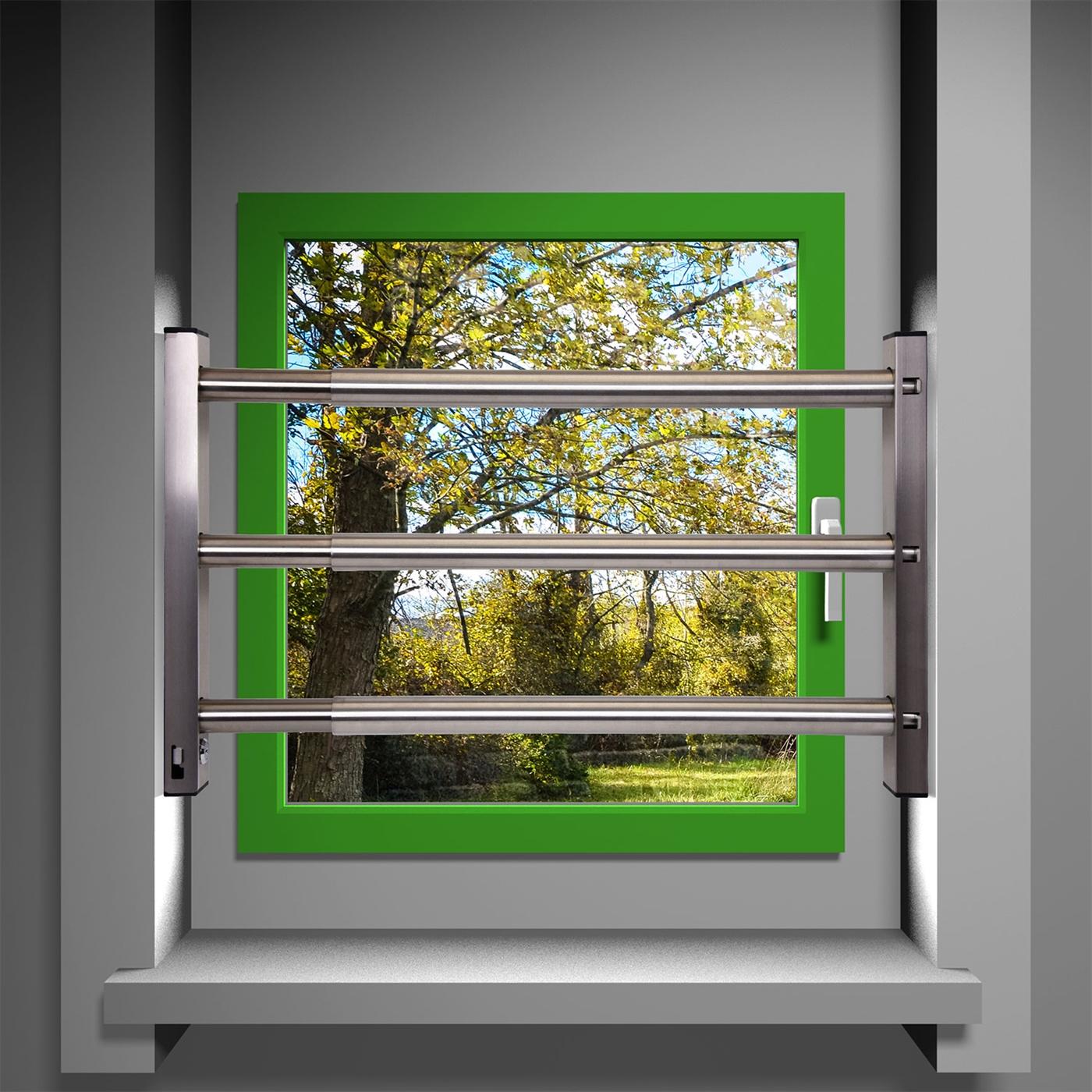 fenstersicherung sicherungsstange t rsicherung einbruchschutz 3fach 640 1000mm ebay. Black Bedroom Furniture Sets. Home Design Ideas