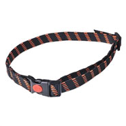 Elastisches Halsband, 25 mm breit, orange