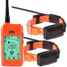 DogTrace GPS X20 Hundeortungsgerät, Spar-Set für 2 Hunde - Hundeortung für die Jagd, ORANGE