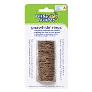 Busy Buddy Gnawhide Rings - Kauleder Ringe Größe A für Bouncy Bone S und Bristle Bone XS