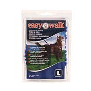 Easy Walk - Katzengeschirr mit Bungee-Leine, Large, blau