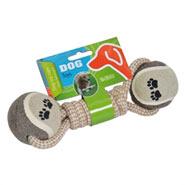 Schlinge + 2 Bälle Wurf- + Zerrspielzeug für Hunde