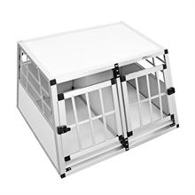 """Hundebox """"Balu"""" Transportbox klein mit Trennwand (Doppeltür)"""