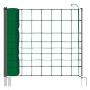 50m Elektrozaun-Netz, tannengrün, Euro, 110cm, 20 Pfähle