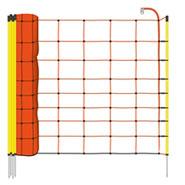 50m Elektrozaun-Netz, Schafzaun, Schafnetz, 90cm, 1 Spitze, orange Litze