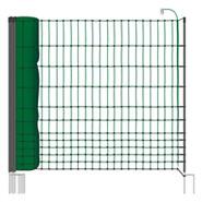 "50m Netz, 112cm, 2 Spitzen, ""grün"", inkl. 20 Pfähle, 2 Spitzen"