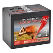 9V/ 175Ah Weidezaunbatterie ALKALINE, groß