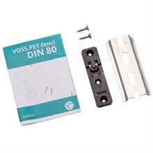 Clip-Halterung + Hutschiene, Schnellmontage VOSS.PET fenci