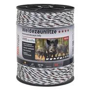 Weidezaun Litze 400m, 6x0,25 TLD, weiss-schwarz
