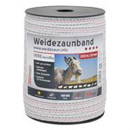 Band 10mm, 200m, 4x0,25 TLD, weiss-schwarz
