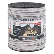 Band 20mm, 200m, 6x0,25 TLD, weiss-schwarz