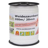 Weidezaun-Band 200m, 20mm, 5x0,16 Niro, weiß