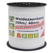 5x 200m Band, 40mm, 9x0,16 Niro, inkl. 5 Verbinder & Warnschild