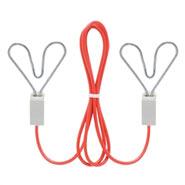 Verbindungskabel mit 2x Herzklemme, 60cm