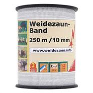 4x Weidezaunband 250m, 10mm, 4x0,16 Niro, weiß + 5 Verbinder!
