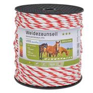 Weidezaun Seil 200m 6mm, 1x0,3 Kupfer + 5x0,2 Niro, weiß-rot 3***