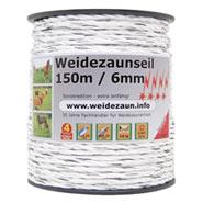 Weidezaun-Seil 150m 6mm, 3x0,20 Kupfer + 6x0,20 Niro 4****