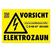 """5x Warnschilder """"VORSICHT ELEKTROZAUN"""""""