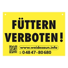 """Warnschild """"FÜTTERN VERBOTEN"""""""