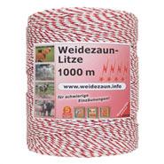Weidezaun Litze 1000m, 1x0,25 Kupfer + 8x0,2 Niro, weiß-rot 4****