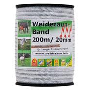 Elektrozaun-Band 200m, 20mm, 1x0,20 Kupfer + 3x0,20 Niro