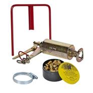 Wühlmaus Schussgerät, Schussfalle, Kieferle, inkl. 50 Kartuschen & Selbstschusshalter