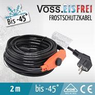 2m VOSS.eisfrei Heizkabel, Frostschutzkabel, Dachrinnenheizung