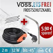 2m VOSS.eisfrei Frostschutz Heizkabel, Heizleitung, Aktion - inkl. Knickschutz
