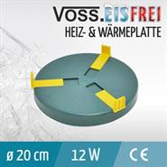 Wärme/ Heizplatte für Tränken, 20cm, inkl. Netzteil 24V Heizplatte 12W