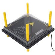 Schutzabdeckung für Wärmeplatte 30x30cm, Kunststoff (PET)