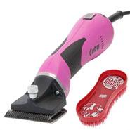 "Lister ""CUTY"" Pferdeschermaschine (pink) + 1 Magic Brush Bürste"