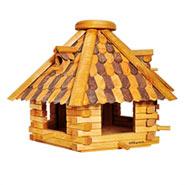 """Riesengroßes Vogelhaus """"Herbstlaub"""" aus Holz"""