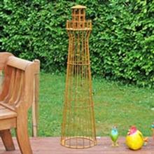 Leuchtturm 135cm, Edelrost-Design