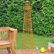Leuchtturm 180cm, Edelrost-Design