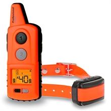 "Dogtrace ""D-Control professional 2000"" 2000 meter trainingshalsband met toon, trillings, impuls en LED correctie, met oranje halsband"