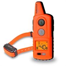 "Dogtrace ""D-Control professional 2000 ONE"" 2000 meter trainingshalsband met toon, LED, trillings en impuls correctie, Li-ion accu voeding en Orange uitvoering"