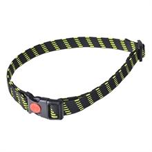 Dogtrace elastische halsband 25mm geel