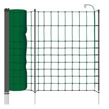 VOSS.farming farmNET+ kleindiernet, groen, 65cm, 50 meter, 20 premium palen met dubbel punt, hondenomheining