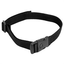 VOSS.minipet zwarte nylon halsband voor trainingshalsbanden