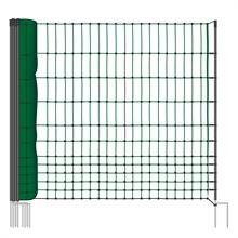 VOSS.farming farmNET afrasteringsnet, 25 meter, 112cm, groen, 9 palen, niet elektrificeerbaar, hondenomheinig, pluimveeomheining