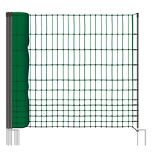 VOSS.farming farmNET afrasteringsnet, 50 meter, 112cm, groen, 16 palen, niet elektrificeerbaar, hondenomheining, pluimveeomheinig