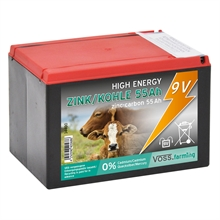 VOSS.farming 9V/ 55Ah batterij, kleine batterij voor in een schrikdraadapparaat