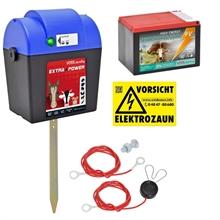VOSS.farming schrikdraad extra power, 9V batterij 0,22 joule / 10.000 volt schrikdraadapparaat inclusief 9V batterij