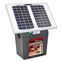 VOSS.farming BV 3900 SOLAR 9V schrikdraadapparaat op accu 9V en zonne-energie, solarset