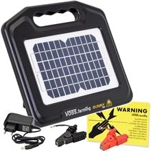 "VOSS.farming ""Sunny 800"" solar 12V schrikdraadapparaat, compleet set met accu"