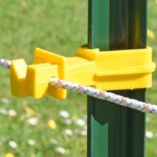25x VOSS.farming gele isolator voor T-post voor montage aan de achterzijde van de palen