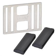 5x Litzclip, lintverbinder RVS voor lint tot 40mm