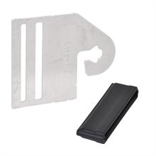 """4x poortgreepverbinder """"Litzclip®"""" voor schrikdraadlint tot 40mm."""